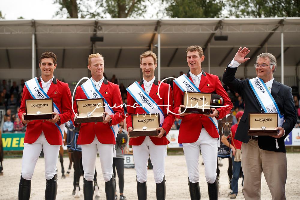 Team Belgium, Philippaerts Nicola, Bruynseels Niels, Devos Pieter, Verlooy Jos, BEL, Weinberg Peter, GER<br /> CHIO Rotterdam 2018<br /> © Hippo Foto - Dirk Caremans<br /> 24/06/2018