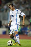 FOOTBALL - UEFA EURO 2012 - QUALIFYING - GROUP D - LUXEMBOURG v BOSNIA - 3/09/2010 - PHOTO ERIC BRETAGNON / DPPI - SENAD LULIC (BOS)