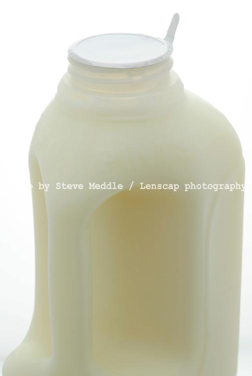 Silver Foil Seal on a Carton of Milk
