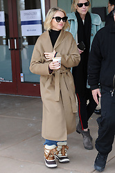 Naomi Watts carries a take out coffee which reads 'Good Vibes Only' at Sundance Festival. Naomi was promoting her film 'Ophelia' co-starring Tom Felton. 22 Jan 2018 Pictured: Naomi Watts. Photo credit: Atlantic Images/ MEGA TheMegaAgency.com +1 888 505 6342