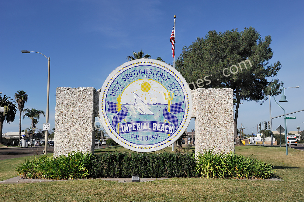 The sign announces you are entering the most southwesterly city in the United States.