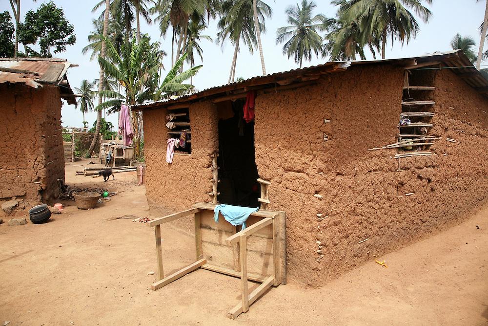 Remote Village area near Accra Ghana West Africa