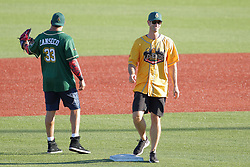 29 July 2017: Jose Canseco and Mark Prior - Legends Baseball game sponsored by the Normal CornBelters at Corn Crib Stadium on the campus of Heartland Community College in Normal Illinois