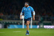 Matais Aguero of Italy looking on. Rugby World Cup 2015 pool D match, France v Italy at Twickenham Stadium in London on Saturday 19th September 2015.<br /> pic by John Patrick Fletcher, Andrew Orchard sports photography.
