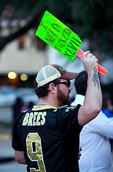 03 Feb 2013. New Orleans, Louisiana USA. .Super Bowl Sunday. A football fan looking for tickets to the big game. The city hosts the XLVII (47th) Annual Super Bowl with the Baltimore Ravens against the San Francisco 49'ers. .Photo; Charlie Varley