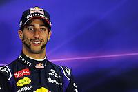 Daniel Ricciardo (AUS) Red Bull Racing in the FIA Press Conference.<br /> United States Grand Prix, Sunday 2nd November 2014. Circuit of the Americas, Austin, Texas, USA.