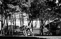 29-09-2013 Santander<br /> IV Gran Carrera Motos Clasicas en el Palacio de la Magdalena<br /> Pablo Lopez Sanz, con la moto Ducati 450<br /> Fotos: Juan Manuel Serrano Arce
