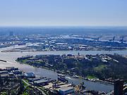 Nederland, Noord-Holland, Zaanstad;  03-23-2020; Hembrugterrein met Het Hem. Gelegen aan de oevers van het Noordzeekanaal, en zijkanaal G, gezien vanuit Zaandam. <br /> Hembrug site with Het Hem. Located on the banks of the North Sea Canal and side canal G, seen from Zaandam.<br /> luchtfoto (toeslag op standard tarieven);<br /> aerial photo (additional fee required)<br /> copyright © 2020 foto/photo Siebe Swart