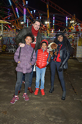 SINITTA and JASON GALE with their children ZAC & MAGDALENA and their dog  at the Hyde Park Winter Wonderland - VIP Preview Night, Hyde Park, London on 17th November 2016.SINITTA and JASON GALE with their children ZAC & MAGDALENA and their dog Scarlet O'Hara at the Hyde Park Winter Wonderland - VIP Preview Night, Hyde Park, London on 17th November 2016.