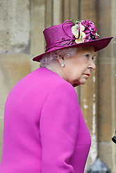 Queen Elizabeth II arrives for the Easter Mattins Service at St George's Chapel, Windsor Castle, Windsor.