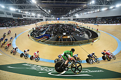BEIJING, Jan. 27, 2019  Athletes compete during the Women's Madison Final during the UCI Track Cycling World Cup at Hong Kong Velodrome in south China's Hong Kong, Jan. 26, 2019. (Credit Image: © Xinhua via ZUMA Wire)