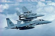 F-15 Eagles flying training mission