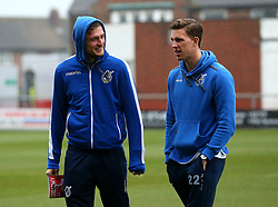 Adam Smith and Joe Partington of Bristol Rovers - Mandatory by-line: Robbie Stephenson/JMP - 02/04/2018 - FOOTBALL - Highbury Stadium - Fleetwood, England - Fleetwood Town v Bristol Rovers - Sky Bet League One