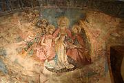 Fresken in der Peterskirche, Altstadt von Lindau, Bodensee, Bayern, Deutschland