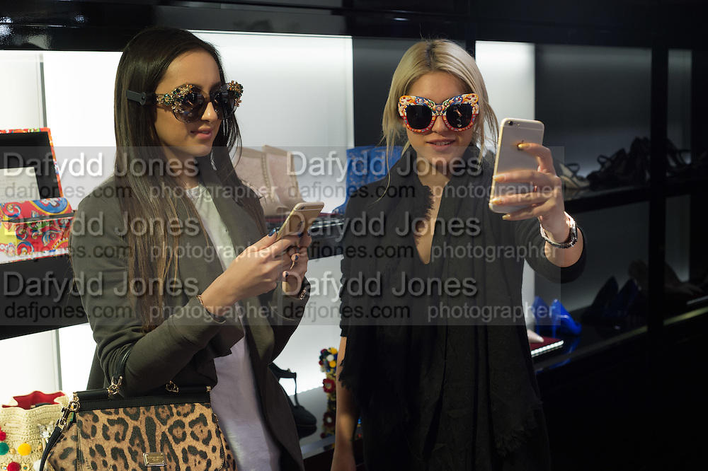 LYDIA SCOLARO; ILANA SCOLARO; , Anna Scolaro hosts a charity shopping event at  Dolce and Gabbana, 175 Sloane St. London. In aid of TeamFox.org for Parkinsons. 10 February 2016