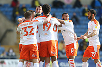 Blackpool's Oliver Turton celebrates scoring his side's first goal <br /> <br /> Photographer Rob Newell/CameraSport<br /> <br /> Sky Bet League One Play-Off Semi-Final 1st Leg - Oxford United v Blackpool - Tuesday 18th May 2021 - Kassam Stadium - Oxford<br /> <br /> World Copyright © 2021 CameraSport. All rights reserved. 43 Linden Ave. Countesthorpe. Leicester. England. LE8 5PG - Tel: +44 (0) 116 277 4147 - admin@camerasport.com - www.camerasport.com