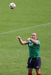 British & Irish Lions Rory Best during the captain's run at the QBE Stadium, Auckland.