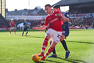 Mike-Steven Bahre of Barnsley (21) in action during the EFL Sky Bet League 1 match between Barnsley and Wycombe Wanderers at Oakwell, Barnsley, England on 16 February 2019.