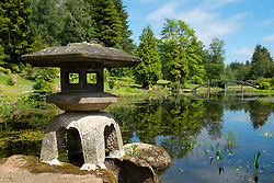 View of the new Japanese Garden at Cowden in Dollar, Clackmannanshire, Scotland, UK