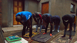 South Africa – Johannesburg – A group of young black men in Soweto gather in secret to uphold their faith as followers of Islam amid the Covid-19 lock down.  Picture: Timothy Bernard/African News Agency(ANA)