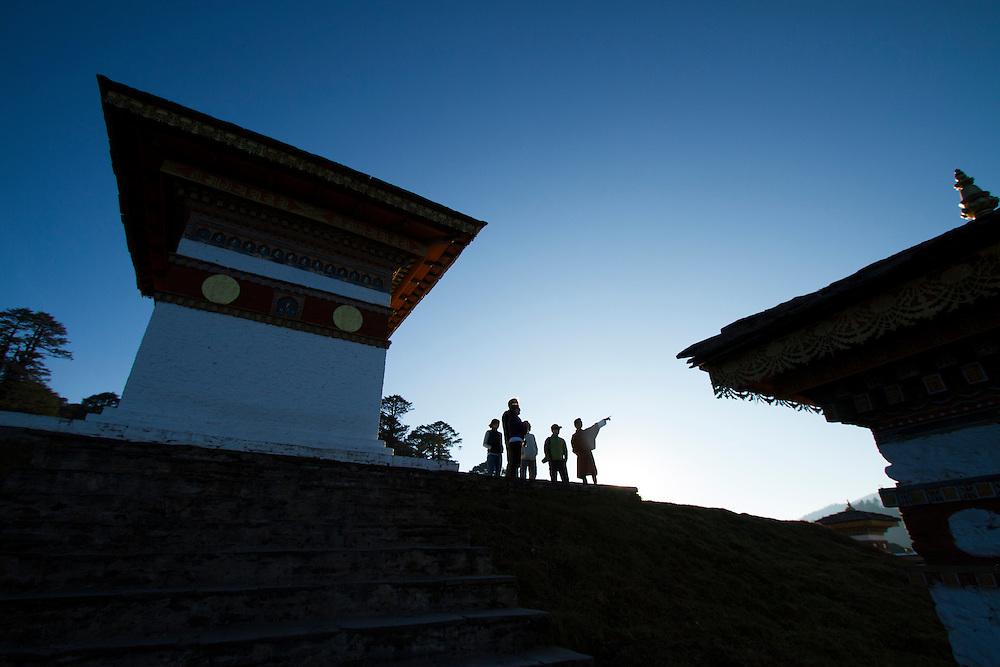Druk Wangyel Chorten atop Dochula Pass, Bhutan.