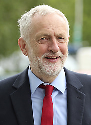June 2, 2017 - York, Yorkshire, UK - York UK. Labour Party leader JEREMY CORBYN arrives to deliver a speech at York Science Park, outlining the party's strategy to deliver jobs and strengthen the economy. (Credit Image: © Andrew Mccaren/London News Pictures via ZUMA Wire)