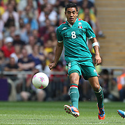 Marco Fabian, Mexico, in action during the Brazil V Mexico Gold Medal Men's Football match at Wembley Stadium during the London 2012 Olympic games. London, UK. 11th August 2012. Photo Tim Clayton
