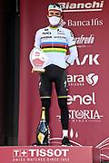 Foto Gian Mattia D'Alberto - LaPresse<br /> 06 Marzo 2021 Siena (Italia)<br /> Sport Ciclismo<br /> 15a Strade Bianche Eolo 2021 - Gara uomini - da Siena a Siena - 184 km (114,3 miglia)<br /> Nella foto: Julian Alaphilippe (Deceuninck - Quick-Step)<br /> <br /> Photo Gian Mattia D'Alberto - LaPresse<br /> March, 06 2021 Siena (Italy) <br /> Sport Cycling<br /> 15th Strade Bianche 2021 - Men's race - from Siena to Siena - 184 km (114,3 miles)<br /> In the pic: Julian Alaphilippe (Deceuninck - Quick-Step)