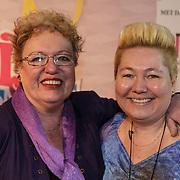 NLD/Amsterdam/20150201 - Premiere Heerlijk duurt het Langst, Astrid Nijgh en partner