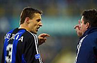 Fotball. Belgisk Liga. 07.12.2002.<br /> Brugge v Anderlecht.<br /> Trond Sollied. Trener Brugge. Timmy Simons.<br /> Foto: Philippe Crochet, Digitalsport