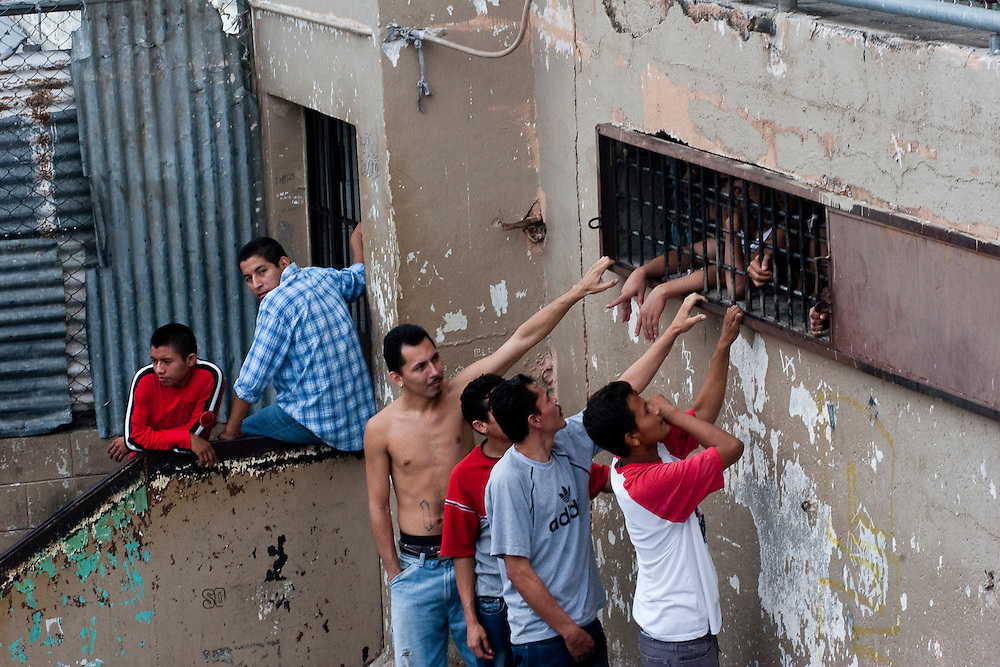 Maras talk between sectors in  in the Cojutepecque prison outside of San Salvador.  The complete isolation from society  in the prison rapidly increases solidarity and creates loyalty  that is impossible to break  later. This is exacerbated by a corrupt legal system  whose sentences  seems arbitrary to many Maras.