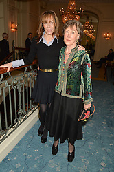 Left to right, TARA PALMER-TOMKINSON and her mother PATTI PALMER-TOMKINSON at a party to celebrate the publication of The Romanovs 1613-1918 by Simon Sebag-Montefiore held at The Mandarin Oriental, 66 Knightsbridge, London on 2nd February 2016.