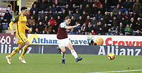 Burnley's Chris Wood see's his early effort from close range saved<br /> <br /> Photographer Rich Linley/CameraSport<br /> <br /> The Premier League - Burnley v Brighton and Hove Albion - Saturday 8th December 2018 - Turf Moor - Burnley<br /> <br /> World Copyright © 2018 CameraSport. All rights reserved. 43 Linden Ave. Countesthorpe. Leicester. England. LE8 5PG - Tel: +44 (0) 116 277 4147 - admin@camerasport.com - www.camerasport.com