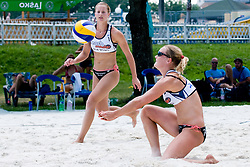 Lotte Vestergaard and Charlotte Dyhr at Beachmaster 2010 tournament for Slovenian BeachTour on July 15, 2010, in Ptuj, Slovenia. (Photo by Matic Klansek Velej / Sportida)
