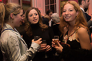 IRIS CECIL, CONSTANCE  WATSON, SOPHIE GLADSTONE, Literary Review  40th anniversary party and Bad Sex Awards,  In & Out Club, 4 St James's Square. London. 2 December 2019