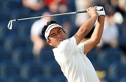 Japan's Yuta Ikeda tees off the 3rd during day one of The Open Championship 2018 at Carnoustie Golf Links, Angus. PRESS ASSOCIATION Photo. Picture date: Thursday July 19, 2018. See PA story GOLF Open. Photo credit should read: David Davies/PA Wire. RESTRICTIONS: Editorial use only. No commercial use. Still image use only. The Open Championship logo and clear link to The Open website (TheOpen.com) to be included on website publishing.