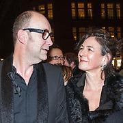 NLD/Amsterdam/20150306 - Boekenbal 2015, Bart Chabot en partner Jolanda van den Burg