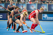 Nicola White. England v The Netherlands, Lee Valley Hockey and Tennis Centre, London, England on 11 June 2017. Photo: Simon Parker