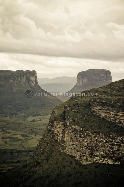 Scenic views of the Chapada Diamantina National Park near Lencois, Brazil.
