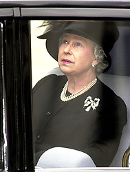 File photo dated 09/04/02 of Queen Elizabeth II leaving Westminster Abbey, London, after the funeral of Queen Elizabeth the Queen Mother. The monarch addressed the nation on the eve of her mother's funeral to thank the country for their support and the love and honour shown to the 101-year-old. Issue date: Friday April 16, 2021.