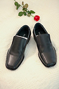 Elegant black leather men's shoes