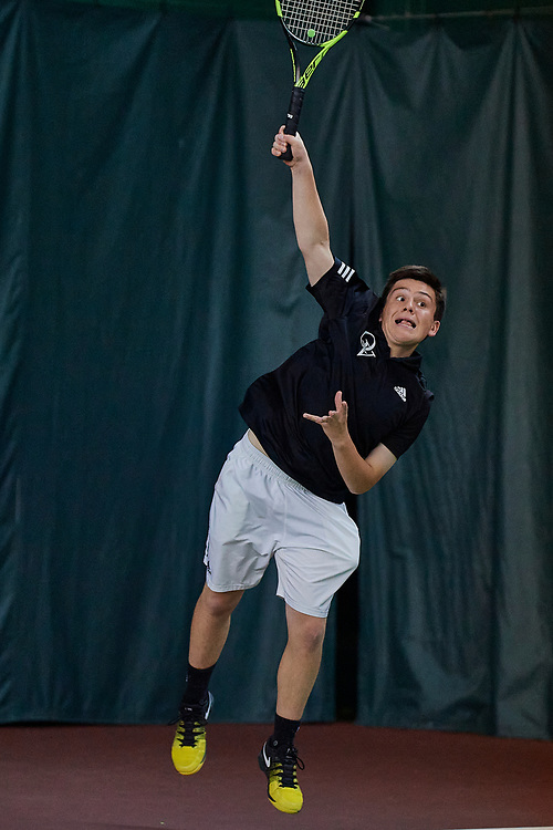 Hershey, PA - May 18: During the Quaker Valley High School Varsity Boys second round of the Pennsylvania Interscholastic Athletic Association Team Championships on May 21, 2021 at the Hershey Raquet Club in Hershey, PA. (Photo by Shelley Lipton)