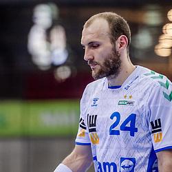 enttaeuscht: Marcel Schiller (FRISCH AUF! Goeppingen #24) ; LIQUI MOLY HBL 20/21  1. Handball-Bundesliga: TVB Stuttgart - FRISCH AUF! Goeppingen am 24.04.2021 in Stuttgart (SCHARRena), Baden-Wuerttemberg, Deutschland,<br /> <br /> Foto © PIX-Sportfotos *** Foto ist honorarpflichtig! *** Auf Anfrage in hoeherer Qualitaet/Aufloesung. Belegexemplar erbeten. Veroeffentlichung ausschliesslich fuer journalistisch-publizistische Zwecke. For editorial use only.