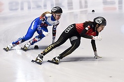 February 8, 2019 - Torino, Italia - Foto LaPresse/Nicolò Campo .8/02/2019 Torino (Italia) .Sport.ISU World Cup Short Track Torino - 500 meter Ladies Heats.Nella foto: Xiran Wang (destra), Ekaterina Kostantinova..Photo LaPresse/Nicolò Campo .February 8, 2019 Turin (Italy) .Sport.ISU World Cup Short Track Turin - 500 meter Ladies Premliminaries.In the picture: Xiran Wang (R), Ekaterina Kostantinova (Credit Image: © Nicolò Campo/Lapresse via ZUMA Press)