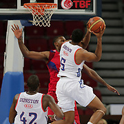 Anadolu Efes's and CSKA Moscow's during their Tubad Banvit Basketball tournament game1 match Anadolu Efes between CSKA Moscow at the Abdi ipekci arena in Istanbul, Turkey, Friday 25, September 2015. Photo by Aykut AKICI/TURKPIX