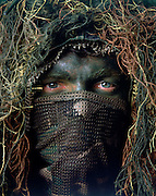 US Army Special Forces Sniper in Ghillie suit and came facepaint.