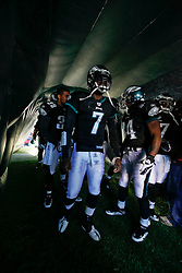 Philadelphia Eagles quarterback Michael Vick #7 before entering the field before the NFL game between the Washington Redskins and the Philadelphia Eagles on November 29th 2009. The Eagles won 27-24 at Lincoln Financial Field in Philadelphia, Pennsylvania. (Photo By Brian Garfinkel)