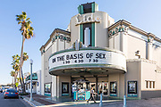 Historic Lido Theater in Via Lido Plaza of Newport Beach