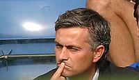 Photo: Henry Browne.<br /> Chelsea v Sunderland. The Barclays Premiership.<br /> 10/09/2005.<br /> Jose Mourinho of Chelsea looks pensive.