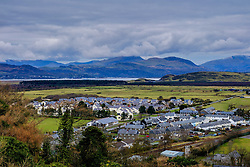 View over the town of Harlech from the ramparts of Harlech Castle, North Wales<br /> <br /> (c) Andrew Wilson   Edinburgh Elite media